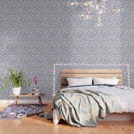 Leopard Print - Peachy Blue Wallpaper