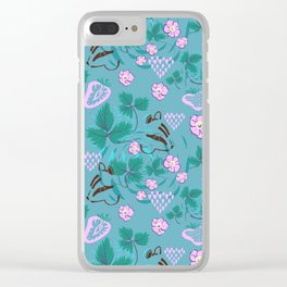 Chipmunks in the Strawberries Clear iPhone Case