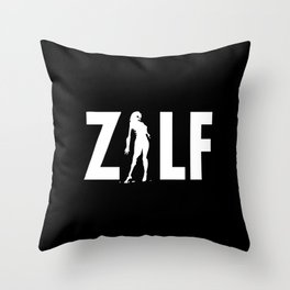 ZILF - A Zombie I'd Like to be Friends with - reverse Throw Pillow
