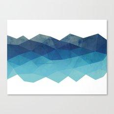 Fractal blue geometry Canvas Print