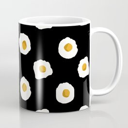 eggs breakfast food fight apparel and gifts black Coffee Mug