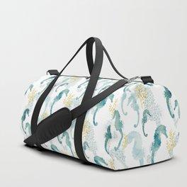 Pointillism Seahorse Duffle Bag