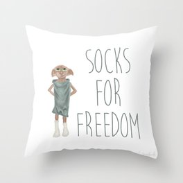 Socks for Freedom Throw Pillow