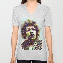 Hendrix Psychedelic Guitar Unisex V-Neck