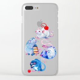 Sweet Rats Clear iPhone Case