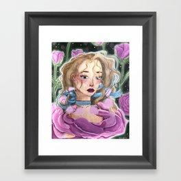 Rosy Rose Framed Art Print
