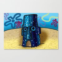 spongebob Canvas Prints featuring Spongebob by LilBroxc