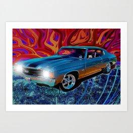 72 Chevy Chevelle SS Art Print