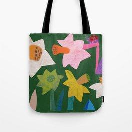 Daffodils and ladybird Tote Bag