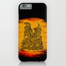 Zombie with Dragon on the Cemetery black and yellow iPhone 6s Slim Case