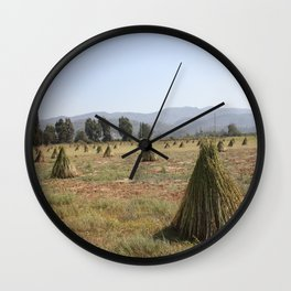 Sesame Crop and Harvest Wall Clock
