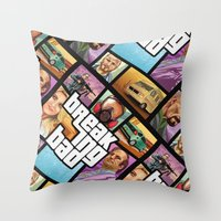 gta Throw Pillows featuring Breaking Bad: GTA  by Messypandas