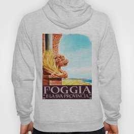 Vintage Foggia Italy Travel Poster Hoody