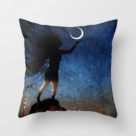 give the moon a little kiss for me Throw Pillow