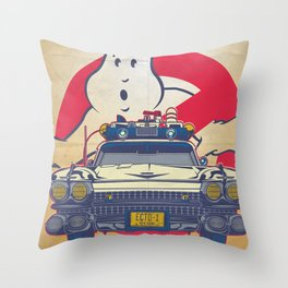 Who ya gonna call? Ghostbusters Movie Poster Throw Pillow