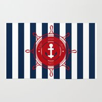 nautical Area & Throw Rugs featuring Nautical by Kathe Gravel