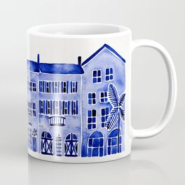 Row of Houses – Navy Palette Coffee Mug