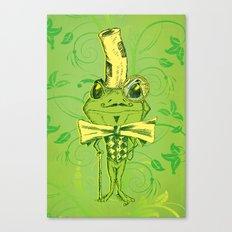Je suis Monsieur Grenouille Canvas Print