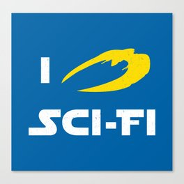 I heart Sci-Fi Canvas Print