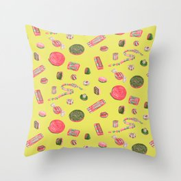 Old Fashioned Boiled Sweets by Chrissy Curtin Throw Pillow