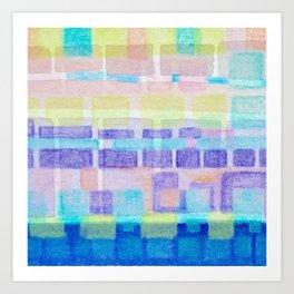 Watercolor pastels Art Print