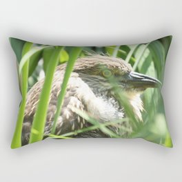 Hiding Bird Photography Print Rectangular Pillow
