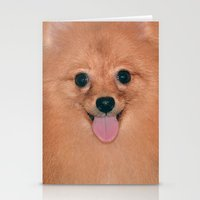 pomeranian Stationery Cards featuring Pomeranian by Pancho the Macho