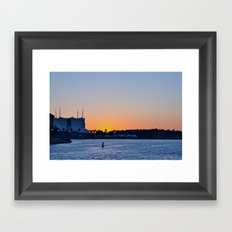 Downtown Disney Sunset II Framed Art Print