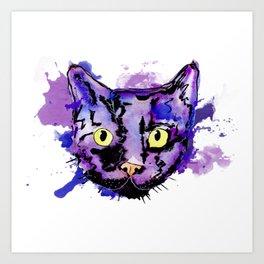 Gato color Art Print