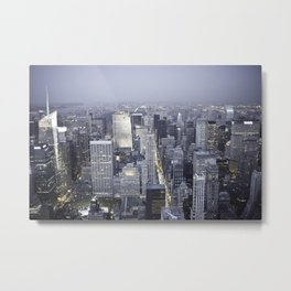 NYC from Empire State Building Metal Print