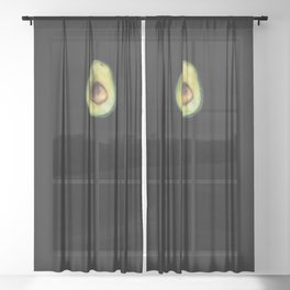 Avocado Painting by Brooke Figer Sheer Curtain