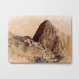Machu Picchu Peru Metal Print