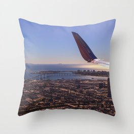 We will be landing in San Diego Throw Pillow