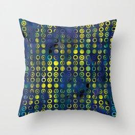 gold&blue Throw Pillow
