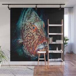 grouper diving underwater Wall Mural