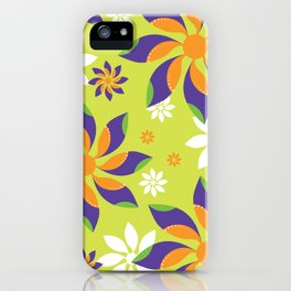 Flowerswirl iPhone Case