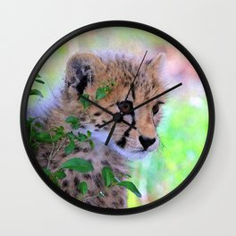 Aqua_Cheetah_20180102_by_JAMColorsSpecial Wall Clock
