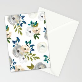 Sweet Blooms - Blue & Cream Stationery Cards