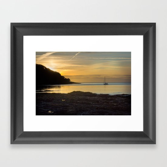 Sunrise Pendennis Point Falmouth Framed Art Print