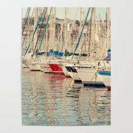Marseille Harbor Poster