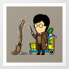Part Time Job - Cleaning Company Art Print