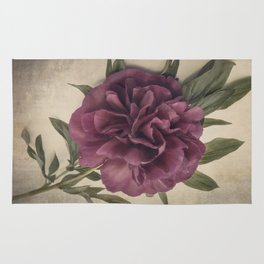 Scents of Spring - Burgundy Peony i Rug