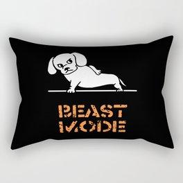 Beast Mode Dachshund Rectangular Pillow