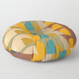 Mid-Century Geometric Pattern  Floor Pillow