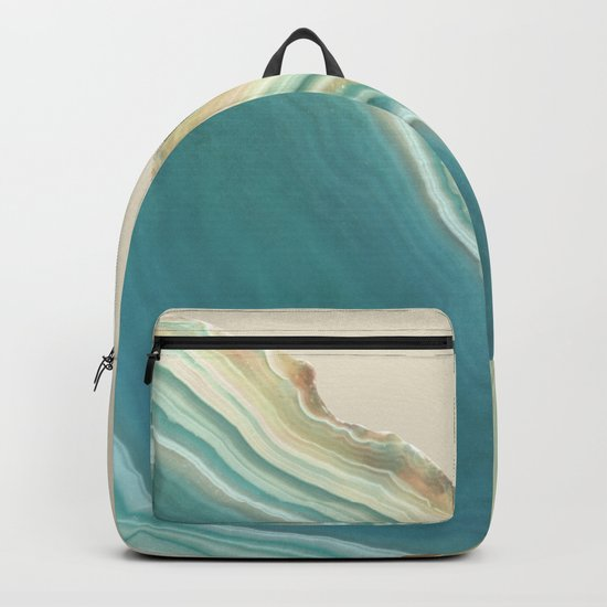 Geode Turquoise + Cream Backpack