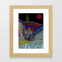 lonely village Framed Art Print