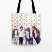 1d Tote Bags featuring Floral 1D by Valerie Hoffmann