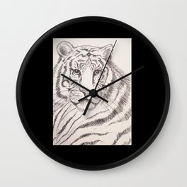 Tiger In Ink Wall Clock
