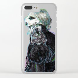 lady g kitteh Clear iPhone Case