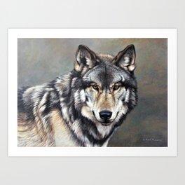 Timber Wolf by Alan M Hunt Art Print